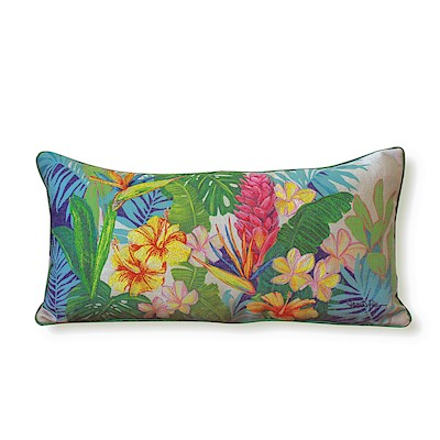 LAUREN ROTH PILLOW EMBROIDERED - ISLAND BLOSSOMS